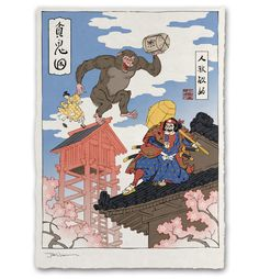 "Jed Henry at The People's Printshop.The People's Printshop just added six of Jed Henry's incredible ""Ukiyo-e Heroes"" series of prints to their online store. The illustrations find popular video game..."