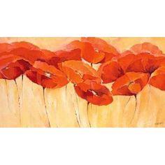 Mohnparade II Canvas Art - Elena Filatov (24 x 36)