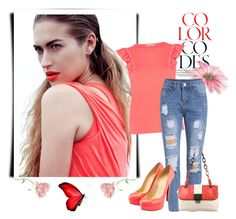 """Color codes"" by divaivana ❤ liked on Polyvore featuring Oasis, Balenciaga, Christian Louboutin and vintage"