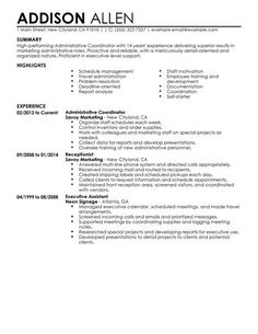 14 Best Perfect Resume Examples images in 2019   Sample resume ...