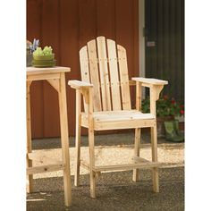 Stonegate Designs Tall Fir Wood Adirondack Chair — 30in.L x 25 1/2in.W x 51in.H, Model# SS-CSN-TAC130