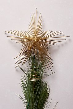 SPARKLED WIRE STAR TREE TOPPER #anthrofave