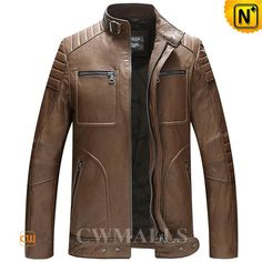 CWMALLS® Mens Washed Leather Moto Jacket CW806030 Classic washed leather motorcycle jacket detailed with stand collar with buckle, zipper chest pockets, zipper hand pockets.Designer leather moto jacket made of imported lambskin leather with vegetable tanning washed, fully lined and top stitching. www.cwmalls.com PayPal Available (Price: $577.89) Email:sales@cwmalls.com