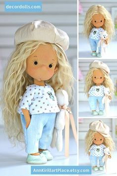 Muñeca Diy, Fabric Dolls, Baby Dolls, Doll Clothes, Unique Gifts, Textiles, Etsy, Sewing, Handmade