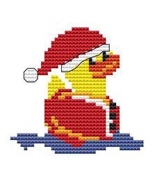 Cross+stitch+kit++Santa+rubber+duck++Christmas+by+FredSpools,+$9.00