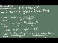 derivada de un producto de funciones (demostración)