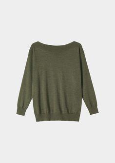 Olive merino knit
