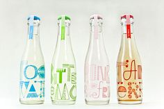 LOVE this student project by Miriam Altamira—packaging for aseries of Cocktail Sodas