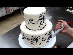 Easy To Make Wedding Cake - 5 Min Simple Beautiful Wedding Cake - YouTube