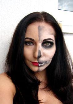 Just make up: Half skull