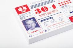 carton d'invitation, anniversaire, 30 ans, mise en page, graphic design, graphisme par studio fiftyfifty