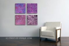 Large abstract Painting  ORIGINAL 4 square by TwistOfUnique, $200.00