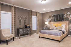 Contemporary Style Bedroom with Restoration Decorative Accents and Furniture by www.Expressionsdecor.com