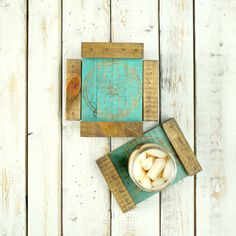 Wood Coasters- Drink Coasters- Wooden Coasters- Coaster Set- Rustic Coasters- Rustic Wood Coasters- Wedding Gift- Housewarming Gift- Boho