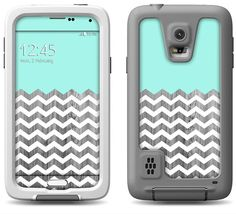 Aqua Blue Wood Chevron Pattern Decal Skin for the by MintedSkins