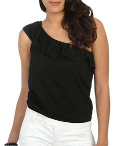 One Shoulder Ruffle Top - Tropical Storm  #WetSealSummer and #Contest