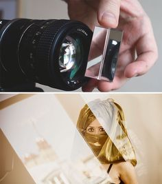 Use um prisma de cristal para criar efeitos nas fotos