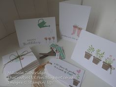 Stationery Box …  Gift from the Garden Pop out Swing Card and Gift Set. Endless Birthday Wishes, Cottage Greetings … Designed by Mikaela Titheridge, Independent Stampin' Up! Demonstrator, The Crafty oINK Pen, Spaldwick, Cambridgeshire, UK. SHOP ONLINE: thecraftyoinkpen.stampinup.net