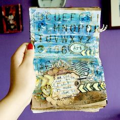 art journal pages by Drycha with arrows stamp from 3rdEye <3 http://3rdeyecraft.com/ <3 #stamping #stamp #craft