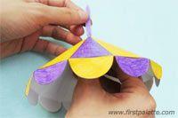Step 5b Paper Circus Tent craft