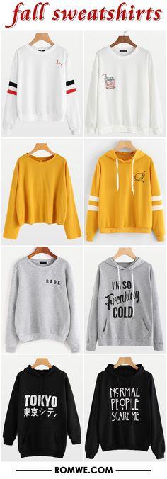 black friday sale - fall sweatshirts from romwe.com