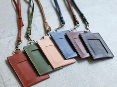 Handmade leather ID card case / holder/ badge by EarthyLeather