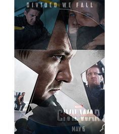 5 of 6. - Source: franklcastle on tumblr. Captain America: Civil War character posters: #TeamCap - Clint 'Hawkeye' Barton. - Click through for the motion poster.