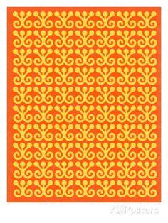 Yellow and Orange Pattern Julisteet tekijänä Pop Ink - CSA Images AllPosters.fi-sivustossa