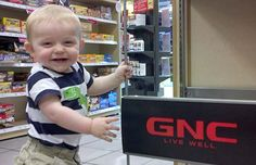 """""""Jaydon at GNC"""" Jaydon is available to help you with your baby nutrition needs."""