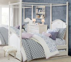 (Create a sophisicated bedroom any little girl would love with this Hazel Jacquard Heart Quilted Bedding from Pottery Barn Kids. Teen Girl Rooms, Girls Bedroom, Bedroom Decor, Bedroom Ideas, Kids Rooms, Tween Girls, Bedroom Designs, Toddler Duvet, Floral Bedding