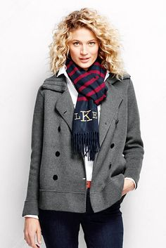 Women's Cotton Double Breasted Jacket Sweater