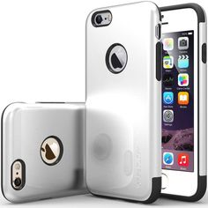 "iPhone 6 Case Caseology Dual Layer Apple 4.7"" Case Silver Impact Resistant White #Caseology #sale"