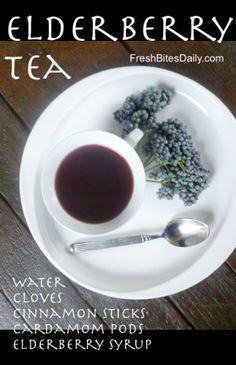 Elderberry Tea at FreshBitesDaily.com