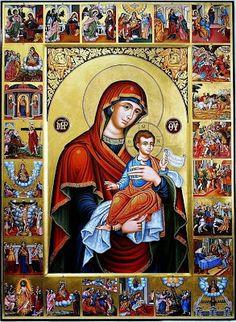 ΟΛΥΜΠΙΑΚΗ ΦΛΟΓΑ: 24 Μαρτίου - Δ' Χαιρετισμοί. Ακάθιστος Ύμνος - Δ' ... Byzantine Icons, Religious Icons, Orthodox Icons, Perfect Woman, Madonna, Baseball Cards, Painting, Instagram, Art