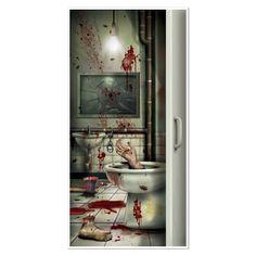 Creepy Crapper Restroom Door Cover (12ct)
