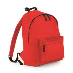 Classic Backpack with Front Pocket - Choose from 31 Different Col - Bright Red - * To view further for this item, visit the image link.
