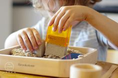 Math Activities with Kinetic Sand - An Everyday Story