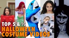 These last minute Halloween costume DIY videos will save your Halloween. Halloween Costume Videos, Diy Costumes, Halloween Diy, Diy Videos, Tops, Diy Halloween