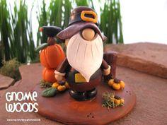OOAK Pilgrim Gnome Sculpture