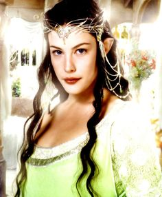 """Liv Tyler as Arwen Undomiel (Evenstar) of Rivendell. Arwen means """"noble maiden"""". Became Queen of Gondor after her marriage to Aragorn Arwen Undómiel, Aragorn, Legolas, Thranduil, Elfa, Liv Tyler, Fellowship Of The Ring, Lord Of The Rings, Lord Rings"""