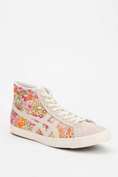 Asics Fabre Floral High-Top Sneaker $85 Urban Outfitters