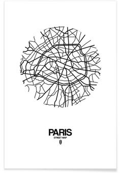 Naxart 'Paris Street Map' Framed Graphic Art Print on Canvas in White Size: Map Logo, Art Carte, Poster Online, Framed Maps, Inspirational Wall Art, Design Graphique, Map Design, Grafik Design, Graphic Design Inspiration