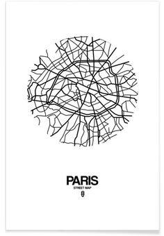 Paris als Premium Poster von Naxart | JUNIQE