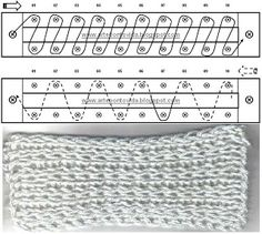 Long loom knitting stitches