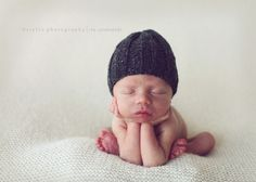 Classic ribbed baby hat hand knit charcoal grey or choose color 0-3 3-6 months newborn photography photo prop boy girl soft wool by Baboom. $24.50, via Etsy.