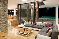 Indoors or out. Home Interior Design, Interior Architecture, Interior Decorating, Pure Lounge, Teak, Concrete Wood, Art Furniture, Outdoor Seating, Sofa Set