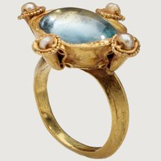 Byzantium,early 6th century AD,gold,glass and pearls