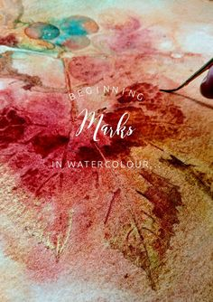 Mark-making in Watercolour with Concord grape leaves ColoursBySheri.com Abstract Images, Abstract Paintings, Collage Ideas, Collage Art, Watercolor Landscape, Watercolour, Mark Making, Surface Design, Delicate