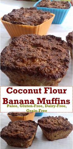 Gluten-Free Banana Muffins with Coconut Flour https://www.pinterest.com/pin/330733166377182645/
