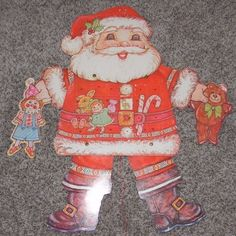 Vintage christmas bulletin board #diecut decoration santa #claus #advent calendar,  View more on the LINK: http://www.zeppy.io/product/gb/2/162272741935/